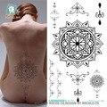 Impermeable etiqueta engomada Del Tatuaje Temporal mandala tótem mujeres de gran tamaño falso de Transferencia de Agua del tatuaje del flash del tatuaje en la espalda