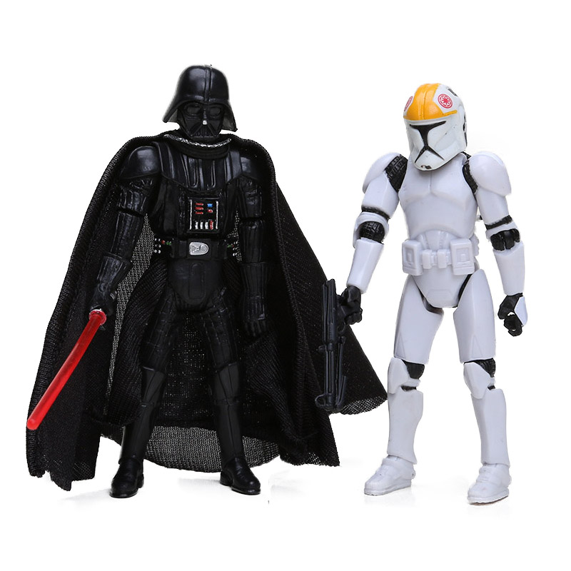 Airborne Clone Trooper Action Figure and Darth Vader