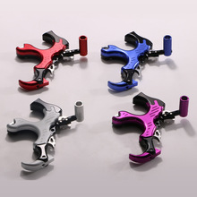 1PCS Aluminum Alloy Archery Release Aid 3 Finger Trigger Caliper Bow Release Aid For Compound Bow Archery Accessories Shooting