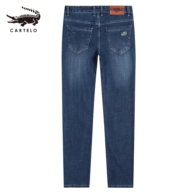 Selected Men's Skinny Jeans Light  Slim Fit Mid Waist  Jeans For Men Black Clothes With Side Pockets 2111 Cartelo Brand New 2019