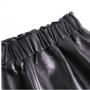 Image 5 - ของแท้หนังกางเกงขาสั้นผู้หญิงเกาหลีแฟชั่น 2020 ยืดหยุ่นเอว Booty มินิเซ็กซี่สั้น Feminino สีแดง/CAMEL/Black calzones Mujer