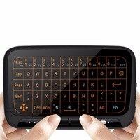 H18 + Wireless Air Chuột Bàn Phím 2.4 Ghz Mini Bàn Phím Chuột với Backlit đối với Android TV Box, PC, HTPC, IPTV, XBOX 360, PS3, PS4