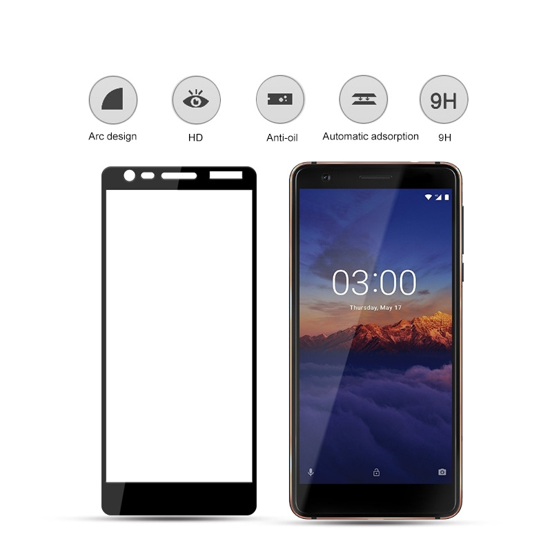9H Full Cover Tempered Glass Screen Protector for <font><b>Nokia</b></font> <font><b>3</b></font>.1 <font><b>3</b></font> 2018 for <font><b>Nokia</b></font> <font><b>3</b></font> TA-1020 TA-<font><b>1028</b></font> TA-1032 glass Film image