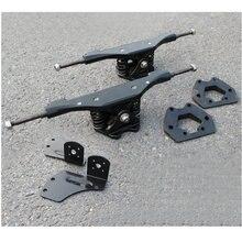 2pcs 11 인치 전기 스케이트 보드 트럭 알루미늄 가스 켓 모터 가스 켓 트럭 전기 스케이트 보드 다리 Riserpad 긴 보드 다리