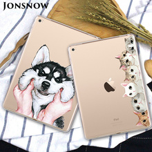 JONSNOW Soft Silicone Case for iPad 2017 9.7 inch Pudding Anti Skid TPU Tablet Patterned Protective Cover 2018