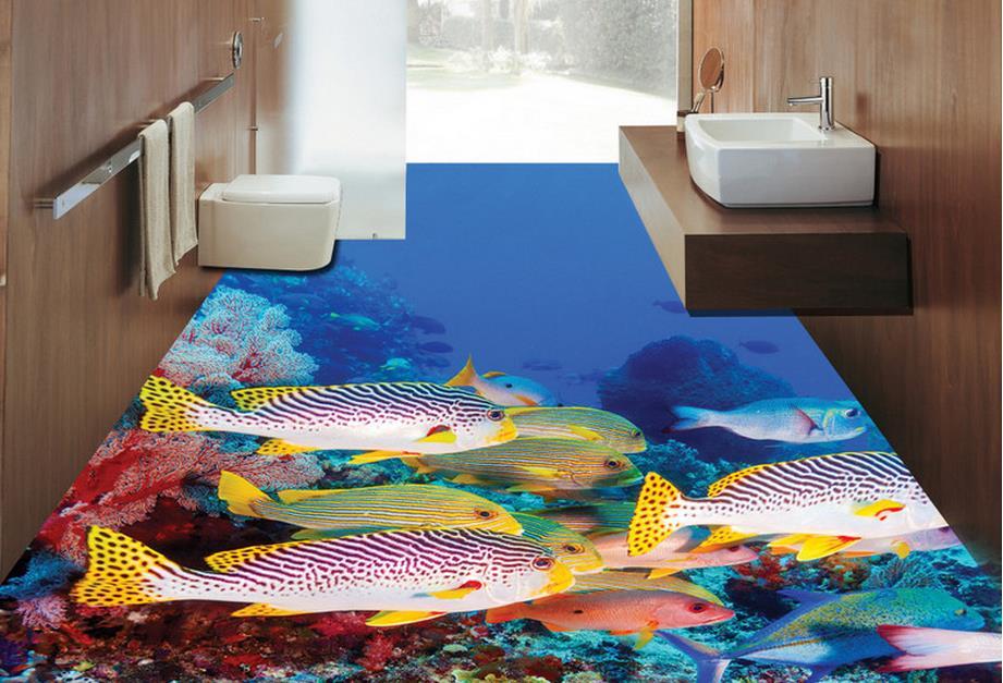 Gekleurd Vinyl Vloer : Luxe behang d vloer schilderen custom d muurschildering behang