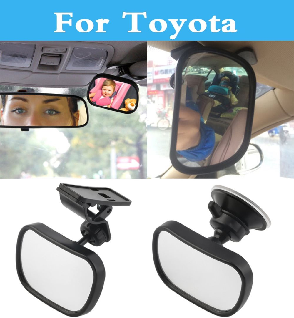 Car Rear Seat View <font><b>Mirror</b></font> Baby Child Safety With Clip Sucker For <font><b>Toyota</b></font> 4Runner Allex Allion Altezza Aurion <font><b>Auris</b></font> Avalon Venza image