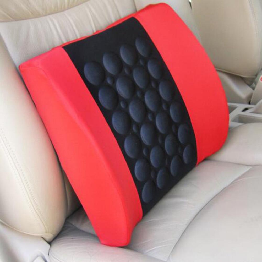 Elektrische Massage Autositz Rücken Relief Lendenwirbelschmerzen Rückenstützkissen Kopfstütze Taille Sicherheitsstuhl Kissen Für Auto Fahrzeug