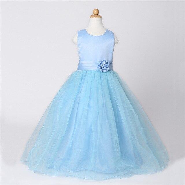 c731cf20a Fiesta de la boda blanco rosa azul vestido para niñas niños vestidos de  partido tamaño 2