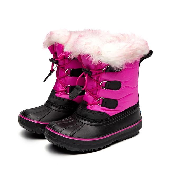 0e305860 Mudibear 2018 nuevas niñas de media pantorrilla botas de nieve niños  calientes zapatos de invierno niños. Sitúa el cursor encima para ...