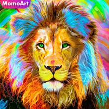 MomoArt 5D Diamond Embroidery Lion Painting Full Square Rhinestone Mosaic Animal Home Decoration