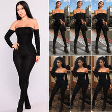 Hirigin Romper Bodysuit Womens Fall 2018 Off Shoulder Clubwear Playsuit Bodycon Party Jumpsuit Romper Trousers Sexy Jumpsuit(China)