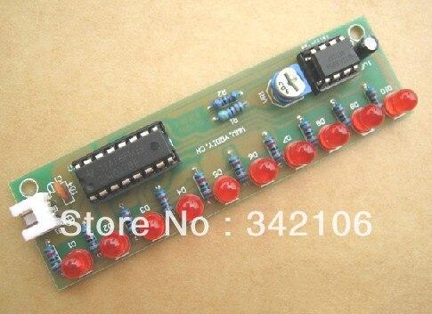 Free Shipping!!! 10pcs Water lamp kit NE555 + CD4017 Electronics DIY parts water lights