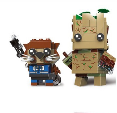 NEW Brickheadz Marvel Avengers 4 Super Hero Groote Rocket Raccoon Brick Heads Building Block Toys Compatible With | Model Building