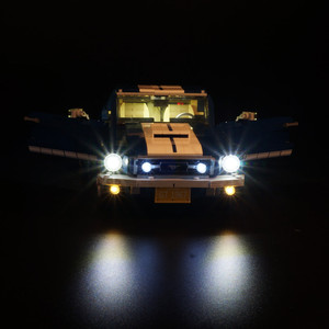 Image 2 - ไฟ LED (รุ่นคลาสสิก) สำหรับ 10265 รถ Ford Mustang Race บล็อกของเล่นของขวัญ