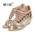 WEISE Frete Grátis Um Novo Sandálias Mulheres Sapatos de Verão Estilo Bohemia Moda Sandálias Flip Flops Sandálias Sapatos Mulher
