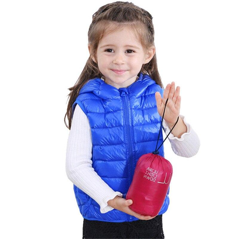 Autumn Winter Baby Outwears Children Down Vests Boys Girls ...