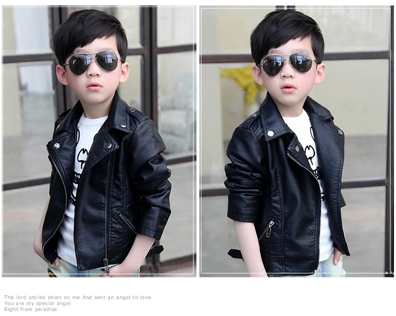 2f9f6b99b NEW Spring Autumn Baby Kids Motorcycle Jackets Thicken PU Leather ...