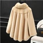 2019 winter new whole fur mink coat women's short fashion simple and generous stand collar mink fur coat