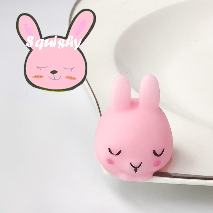 FGHGF 1 Squishy Toy Pink Rabbit Squishy Kawaii Squeeze Toy Healing Funny Kids Toy Show Window Toys Best Gift Y1852504