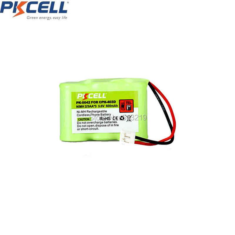 2 قطع هاتف لاسلكي بطارية 3.6 فولت 2/3AA * 3 600 مللي أمبير ل Vtech CPH-403D GE-TL26145 PK-0042 P-P304 CPH-403D