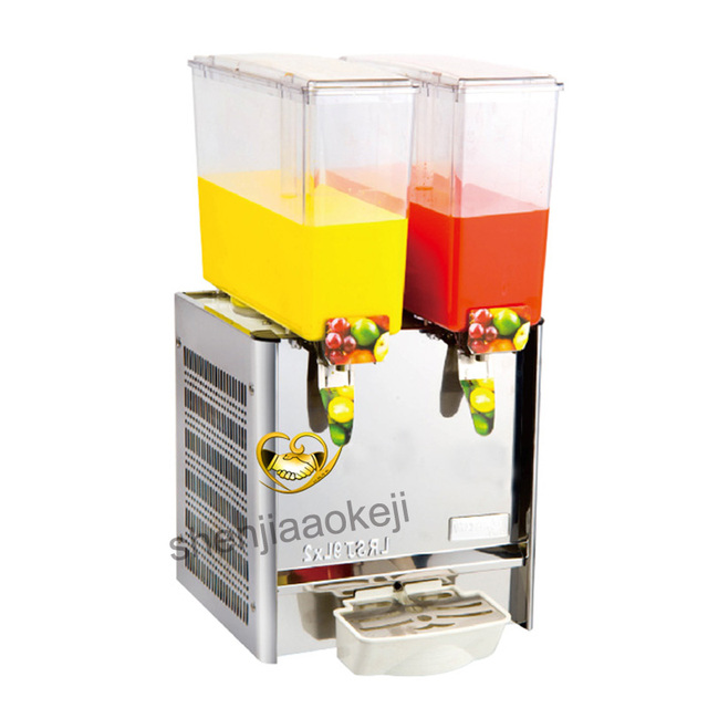 Commercial Two-cylinder juice machine Drink container 9L *2 Juice Dispenser Cool & Mixing Beverage Machine 220v 280W 1pc