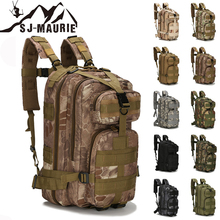 SJ-Maurie Waterproof Tactical Backpack 25L-30L Outdoor Bags Militari for Sport Camping Hiking Fishing Hunting