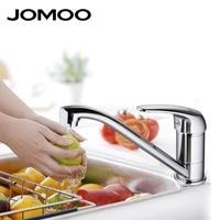 JOMOO Kitchen Faucet Chrome Polish Single Handle Single Hole Spout Swingable Kitchen Mixer Tap Australian Wels