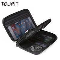 TOURIT Electronic Accessories Bag Nylon Mens Travel Accessories For Date Line SD Card USB Cable Digital