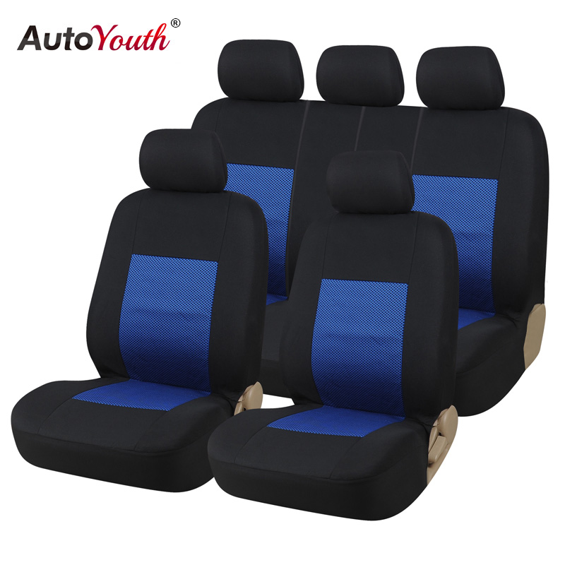 Autoyouth car seat cover full universal fit most car blue - Most popular car interior colors ...