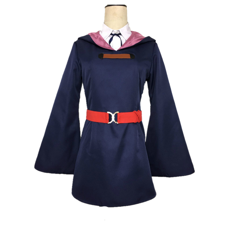 Little Witch Academia Lotte Yanson Sucy Manbavaran Akko <font><b>Kag</b></font> Uniform Outfit Anime Halloween Hallowmas Cosplay Costumes image