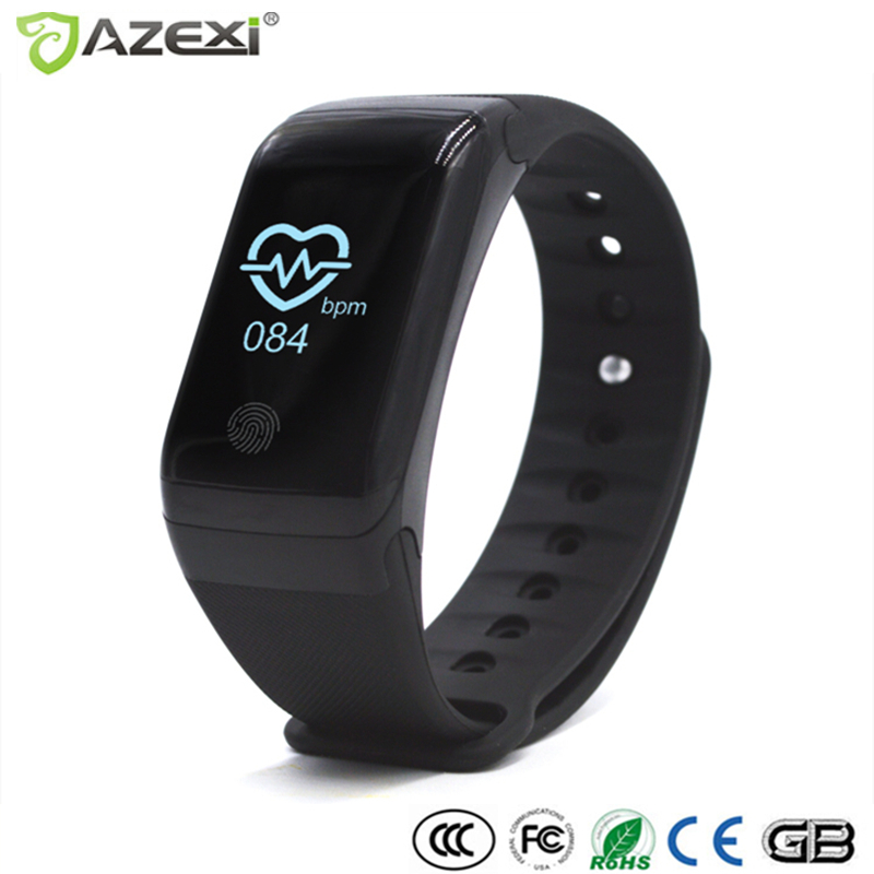 Azexi X7 Smart Band Heart Rate Monitor Wrist Watch Intelligent Bracelet Fitness bracelet Tracker Thermometer Barometer