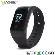 Azexi X7 smart Сердечного ритма Мониторы наручные часы умный Браслет Фитнес браслет трекер термометр барометр Pedomete