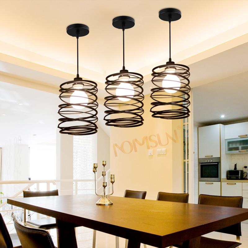 Vintage cuerda luces colgantes de hierro estilo de - Como hacer lamparas de techo modernas ...