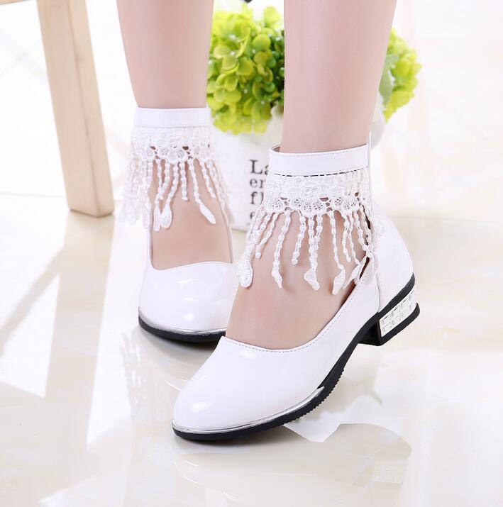 New Arrival 2016 Autumn Wear Children Leather shoes Baby Girls Tassel shoes Kids Student Korean Princess Party Lace Shoes mt everest whiskey glasses