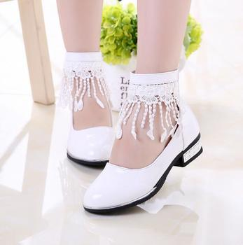 New Arrival 2016 Autumn Wear Children Leather shoes Baby Girls Tassel shoes Kids Student Korean Princess Party Lace Shoes online shopping in pakistan with free home delivery