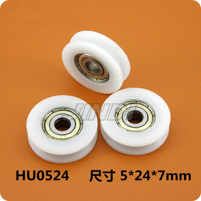Fixmee 4pcs 24mm Round Groove Nylon Pulley Wheels Roller for 2mm rope w/ 625ZZ Bearing