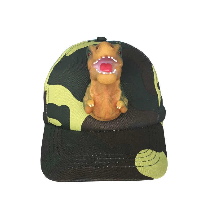 Рождественская Новогодняя шапка с хлопковым козырьком, 3D дизайн динозавра, мультяшная Маскировочная шапка, уличная походная Женская необычная модная Рыболовная Шапка