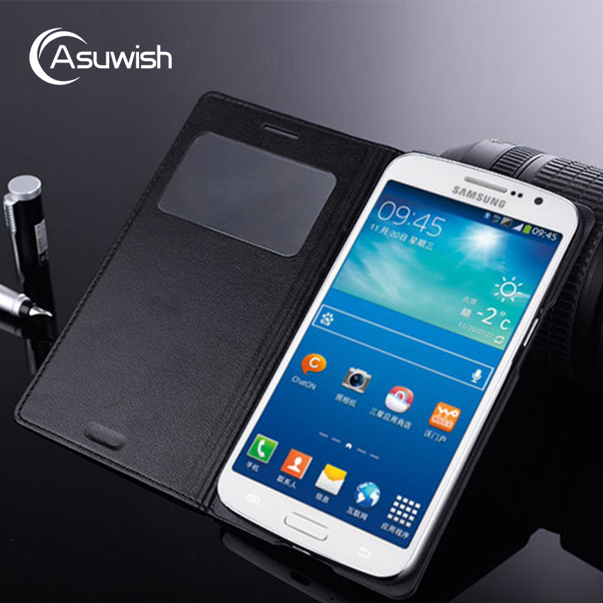 Smart View Flip Cover Leather Phone Case For Samsung Galaxy Grand 2 Grand2 Duos SM G7100 G7102 G7105 G7106 SM-G7102 Case Sleep image