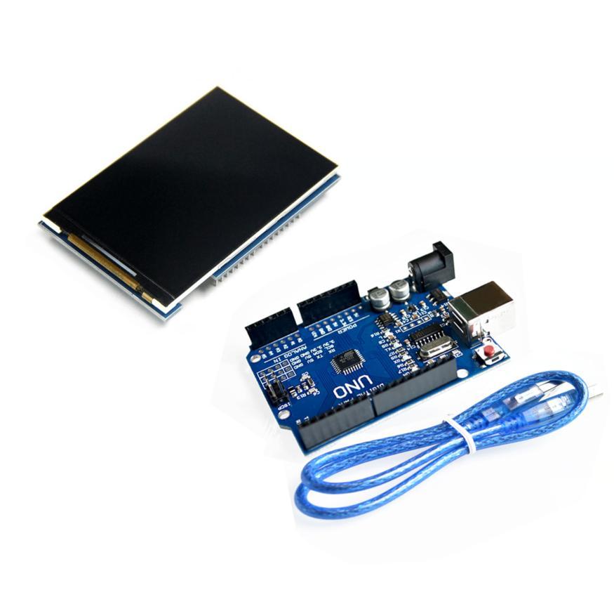 LCD module 3.5 pouce TFT LCD écran 3.5 + UNO R3 REV3 MEGA328P Conseil pour Arduino