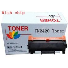 1x совместимый тонер картридж tn2420 для brother dcp l2510d