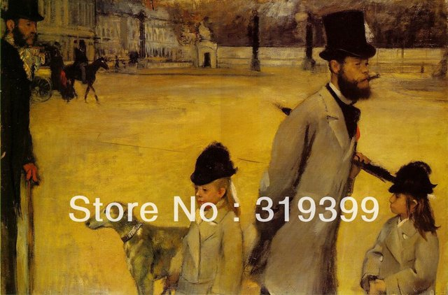 2d9ab00634bff Oil Painting Reproduction on Linen Canvas,Place de la Concorde by edgar  degas,Free DHL Shipping,handmade,Museum Quality-in Painting & Calligraphy  from ...