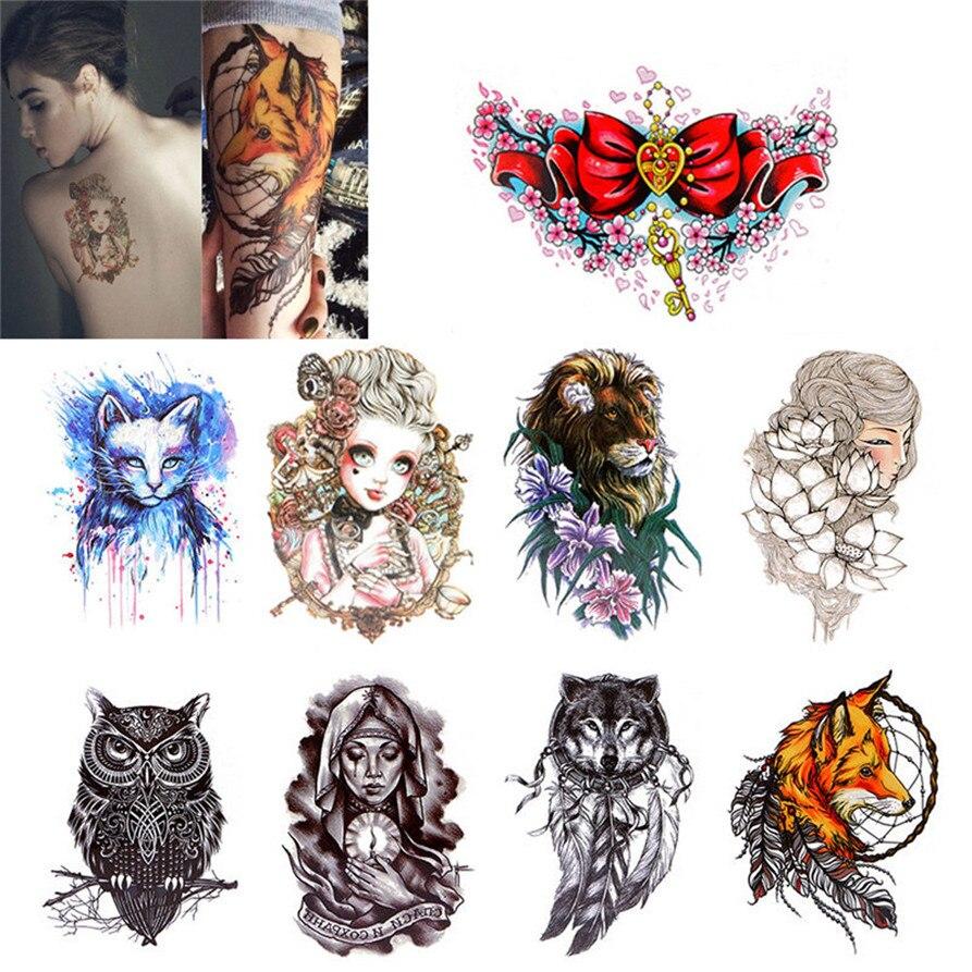 Временные татуировки Средства ухода за кожей Стикеры татуировки Бумага поддельные татуировки Водонепроницаемый Средства ухода за кожей Наклейки Прямая поставка 0824