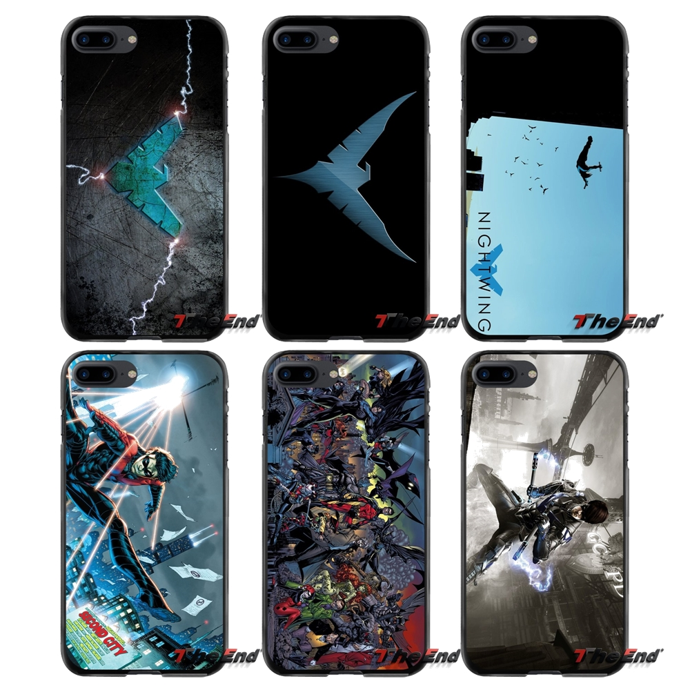 For Apple iPhone 4 4S 5 5S 5C SE 6 6S 7 8 Plus X iPod Touch 4 5 6 Nightwing Accessories Phone Cases Covers