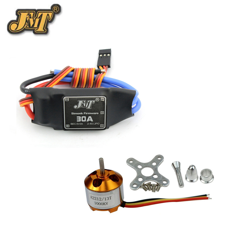 JMT 6 Sets A2212 1000KV Brushless Motor & 30A Brushless ESC For RC Quadcopter Hexacopter Multi-Rotor Drone 4set lot a2212 1000kv brushless outrunner motor 30a esc 1045 propeller 1 pair quad rotor set for rc aircraft multicopter