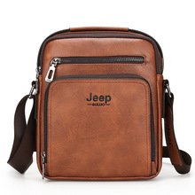 High-quality JEEP BULUO Man Messenger Bag  Men Pu Leather Shoulder Bags Business Crossbody Casual Bag Famous Brand цена