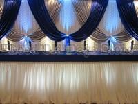 10FT x 20ft Королевский Синий Серебряный с белое свадебное фон Свадебные Задний план Шторы вечерние украшения