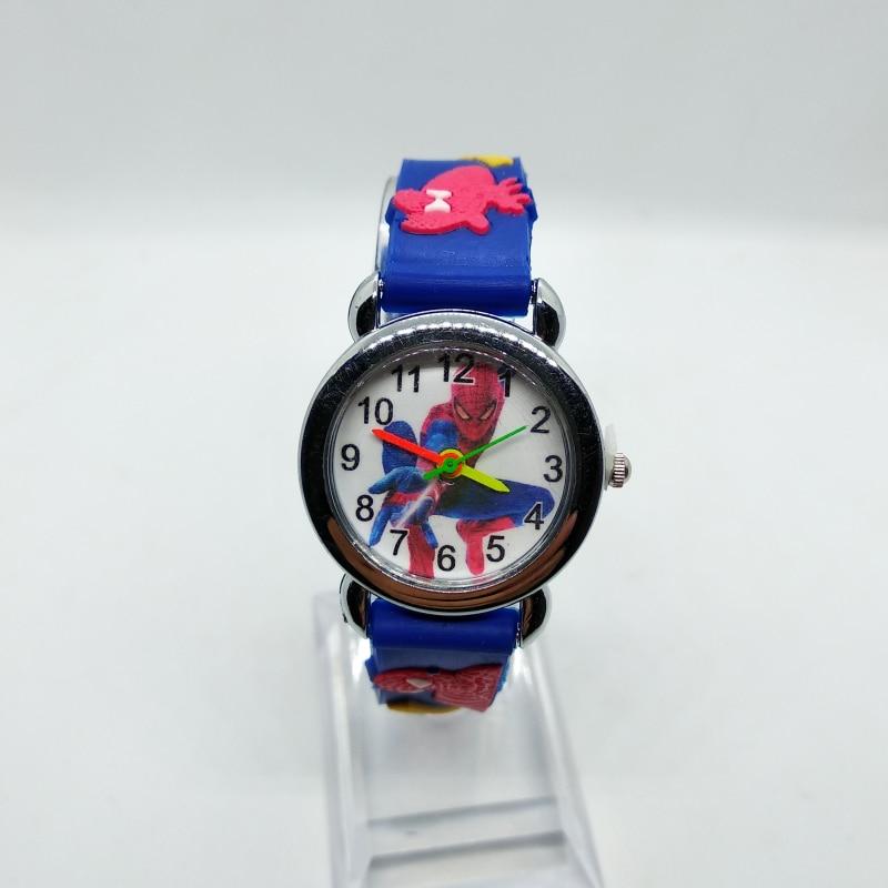2019 Hot Sale SpiderMan Watch Cute Cartoon Watch Kids Watches Rubber Quartz Watch Gift Children Hour Reloj Montre Relogio