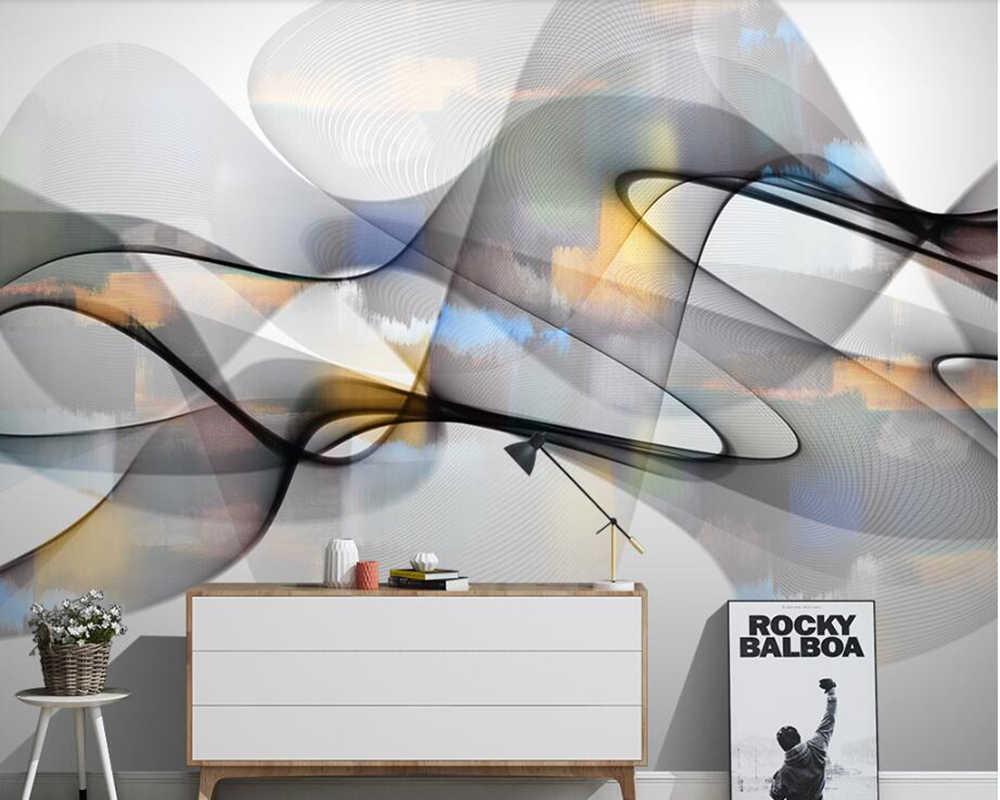 Papel де parede чернил абстрактные современные 3d обои, ресторан Гостиная Бар ТВ диван стены Кухня Обоев росписи декора дома