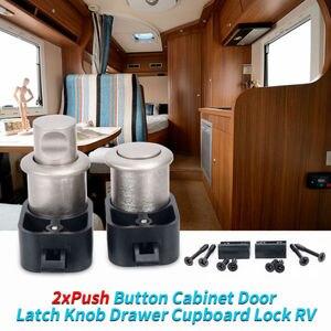Image 1 - 2 xPush Knop Kast Deur Klink Knop Ladekast Lock RV Caravan Van Camper Trailer Boot Yacht Meubels Hardware plus